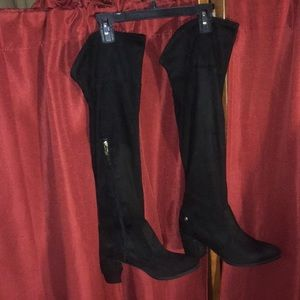 LizClaiborne Black Suede Over the Knee Boots